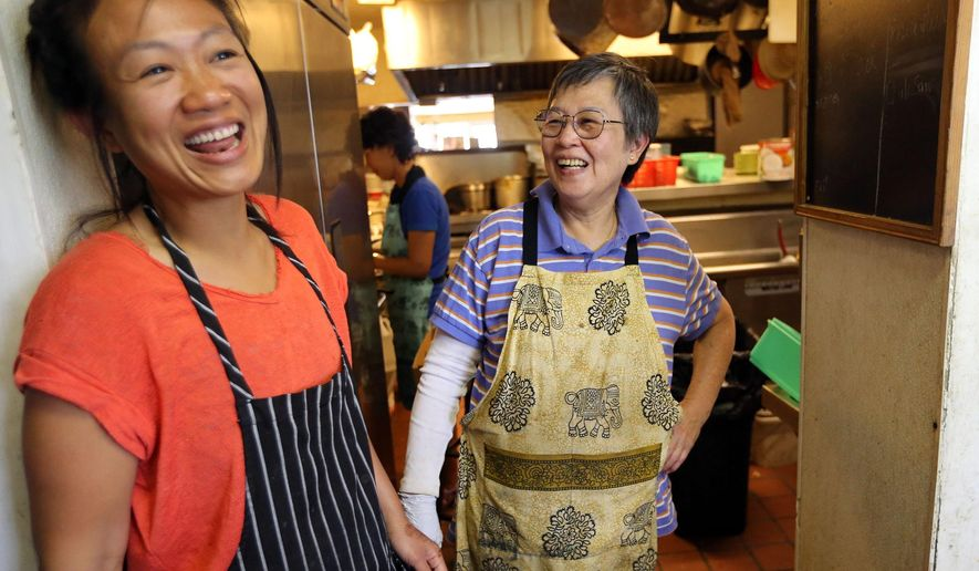 This June 22, 2016 photo shows Nutnicha Chanon and her mother Kanda Chanon at work at  Chanon Thai in Salt Lake City. New U.S. Census data shows that Utah is still the youngest state in the nation, and it's becoming more diverse.  (Kristin Murphy/The Deseret News via AP)  SALT LAKE TRIBUNE OUT; MAGS OUT; MANDATORY CREDIT; TV OUT