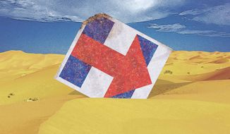 Illustration on Hillary Clinton's economic plans by Greg Groesch/The Washington Times