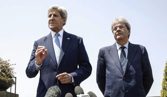 Secretary of State John F. Kerry has tried to downplay President Obama's warning on trade. (Associated Press)