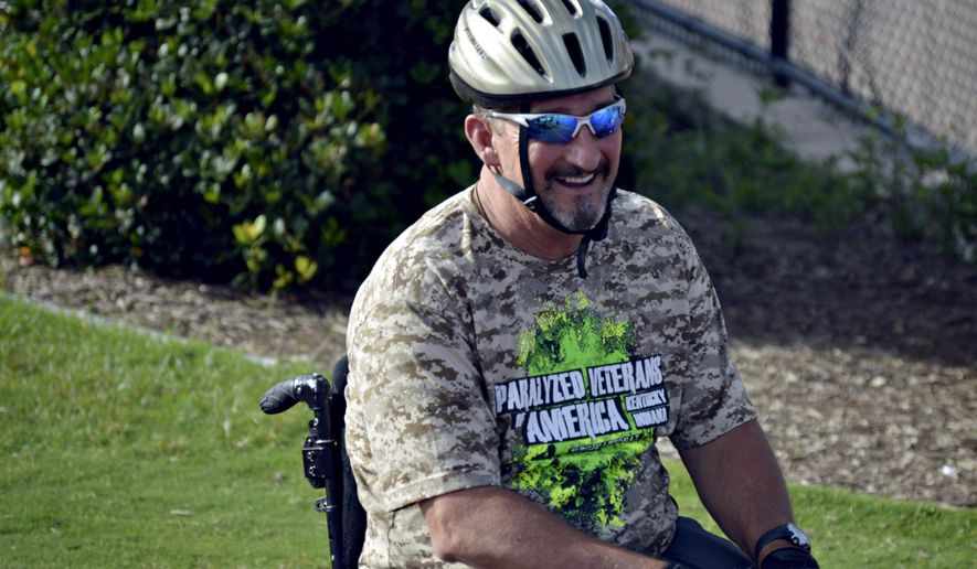 Steve Miller smiles in an undated photo. For the second year in a row,  Miller will join a team of paralyzed veterans from across Kentucky and Indiana traveling to Salt Lake City to compete in the 36th annual National Veterans Wheelchair Games at the end of June.  (Daily News via AP) MANDATORY CREDIT