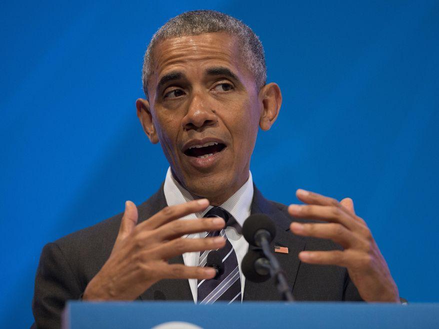 In this June 24, 2016, file photo, President Barack Obama speaks in Stanford, Calif. (AP Photo/Pablo Martinez Monsivais, File)