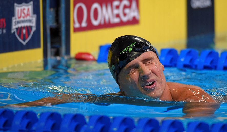 Ryan Lochte missed out on his second chance to make the U.S. Olympic team in an individual event with a fourth place finish in the 200-meter freestyle on Tuesday. (Associated Press)