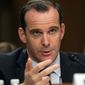 Brett McGurk, President Obama's envoy to members of the anti-Islamic State coalition, told a Capitol Hill hearing that Islamic State officials are telling recruits in the West to stay put and conduct attacks at home rather than travel to the Salafist group's base in Syria, where its control is increasingly under threat. (Associated Press)