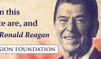 The Freedom From Religion Foundation is erecting a billboard that features a Ronald Reagan quote stressing the importance of separation of church and state ahead of the Republican National Convention in Cleveland next month. (Freedom From Religion Foundation)