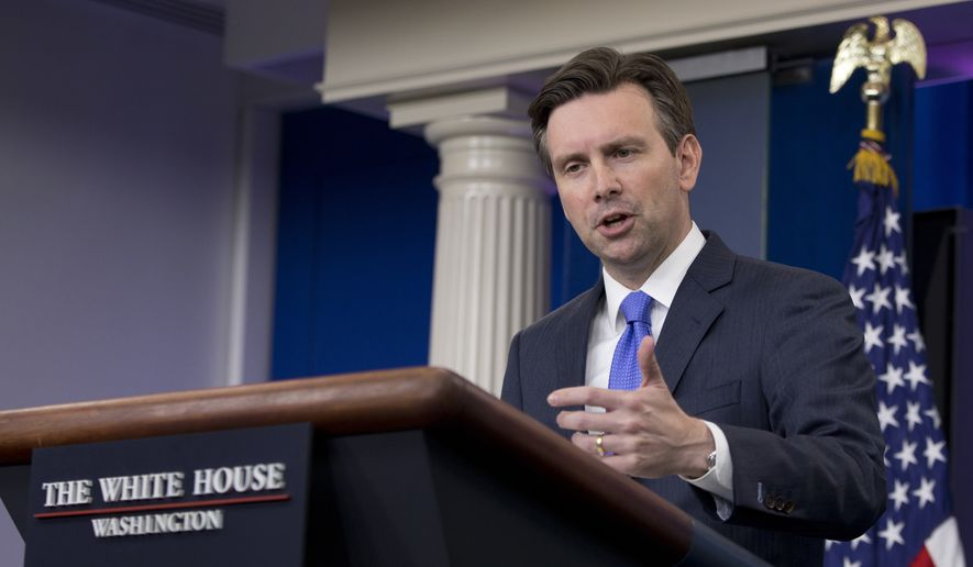 White House press secretary Josh Earnest speaks during the daily news briefing at the White House in Washington, Tuesday, June 28, 2016. Earnest discussed the House Benghazi Committee report and other topics. (AP Photo/Carolyn Kaster)