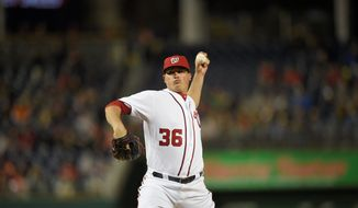 Washington left-handed relief pitcher Sammy Solis has a 1.35 ERA, which is best among Nationals relievers. He is striking out more than one batter per inning and has become manager Dusty Baker's left-handed choice in tough spots. (Associated Press)