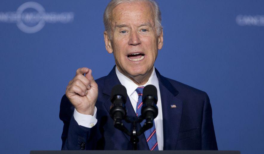 Vice President Joe Biden speaks at the Cancer Moonshot Summit at Howard University in Washington, Wednesday, June 29, 2016.  (AP Photo/Carolyn Kaster) **FILE**
