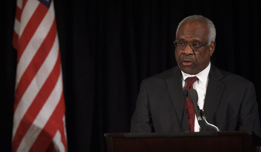 Supreme Court Justice Clarence Thomas has a prolific record, writing more concurring opinions or dissents and planting seeds that, though they had no immediate impact, may eventually flower by the strength of their reason. (Associated Press)