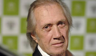 """David Carradine - By his own account, in the late 1950s, while living in San Francisco, young Carradine was arrested for assaulting a police officer; he pleaded to a lesser charge of disturbing the peace. While in the Army (196062) he faced court-martial, on more than one occasion, for shoplifting. After he became an established actor and had changed his name to David, he was arrested, in 1967, for possession of marijuana. At the height of his popularity in Kung Fu, in 1974, Carradine was arrested again, this time for attempted burglary and malicious mischief. While under the influence of peyote, Carradine, nude, began wandering around his Laurel Canyon neighborhood. He broke into a neighbor's home, breaking a window and cutting his arm. He then bled all over the homeowner's piano. At some time during this episode he accosted two young women, allegedly assaulting one while asking, or demanding of her, if she was a witch. The police literally followed a trail of blood to his home. The burglary charges were dropped, as nothing was found to be missing, while Carradine pleaded """"no contest"""" to the mischief charge and was given probation. He was never charged with assault, but the young woman sued him for $1.1 million and was awarded $20,000. During the 1980s, Carradine was arrested at least twice for driving under the influence of alcohol, once in 1984 and again in 1989. In the second case, Carradine pleaded """"no contest"""". (AP Photo/Phil McCarten, file)"""