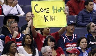 Washington Wizards fans had hoped District native Kevin Durant would come to Washington this offseason. (AP Photo/Alex Brandon)