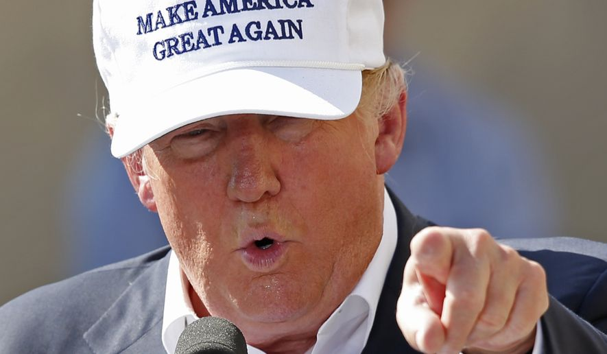 Republican presidential candidate Donald Trump speaks at a town hall-style campaign event at the former Osram Sylvania light bulb factory, Thursday, June 30, 2016, in Manchester, N.H. (AP Photo/Robert F. Bukaty)