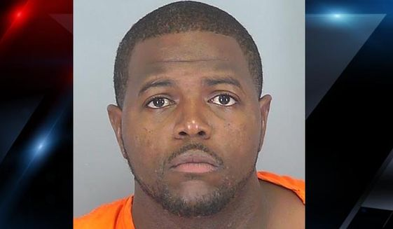 Jody Ray Thompson, 32, is facing multiple attempted murder charges after he opened fire on a crowd gathering outside a nightclub early Sunday, South Carolina police said. (Spartanburg County Sheriff)