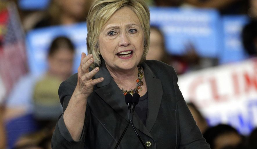 Democratic presidential candidate Hillary Clinton speaks during a rally in Raleigh, N.C. in this June 22, 2016 photo. On July 2, 2016, Mrs. Clinton met with FBI agents for an interview about her private email server.  (AP Photo/Chuck Burton, File) **FILE**