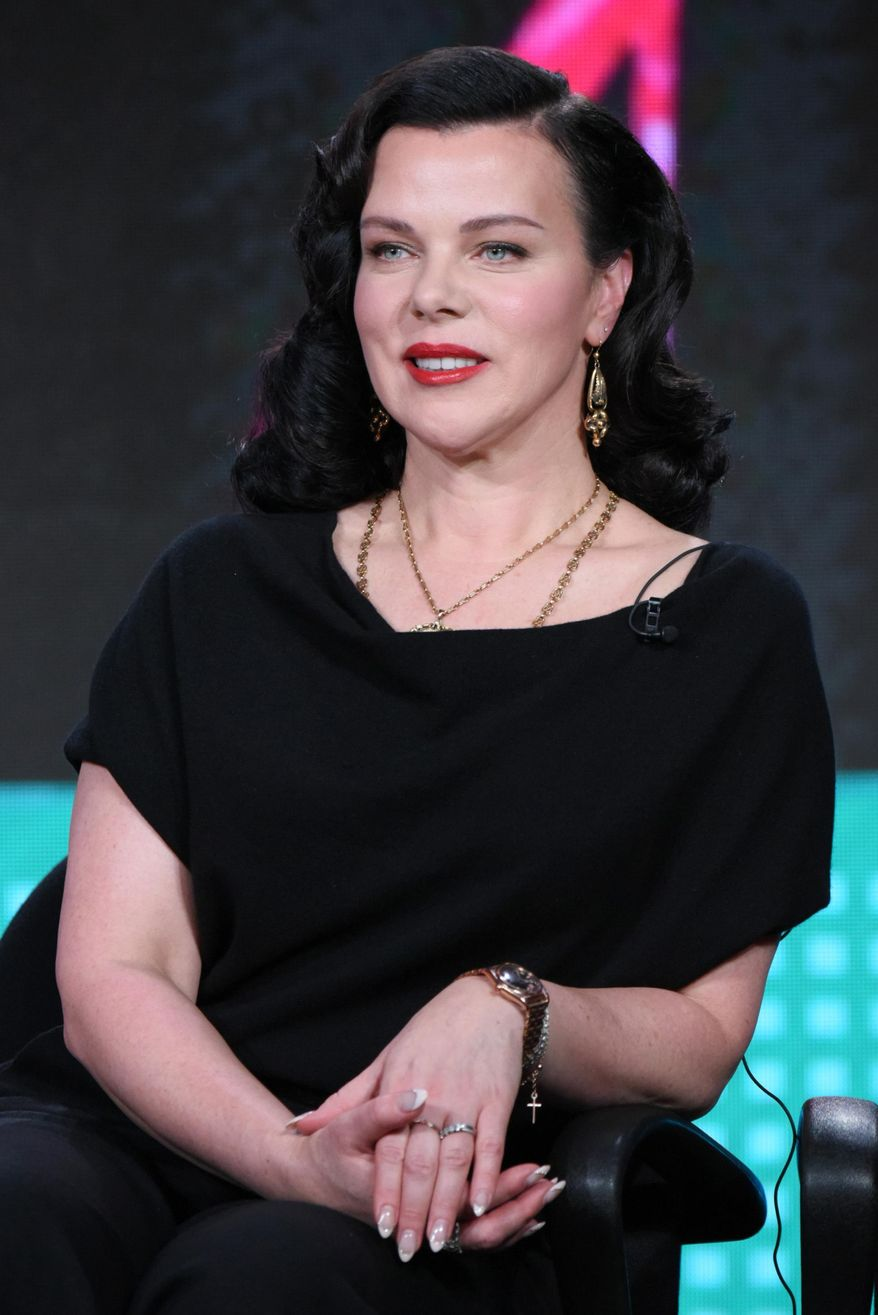 """FILE - In this Wednesday, Jan. 6, 2016 file photo, Debi Mazar speaks during the """"Younger"""" panel at the TV Land 2016 Winter TCA in Pasadena, Calif. After the success of her award-winning cooking show """"Extra Virgin,"""" Mazar's creative juices are still flowing, as the actress talks about the possibility of another show and more of her culinary dreams. (Photo by Richard Shotwell/Invision/AP)"""