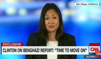 """Dorothy Woods, the widow of Navy SEAL Tyrone Woods, one of the four Americans killed during the 2012 terror attack in Benghazi, Libya, says former Secretary of State Hillary Clinton has """"no right"""" telling the country to move on. (CNN)"""