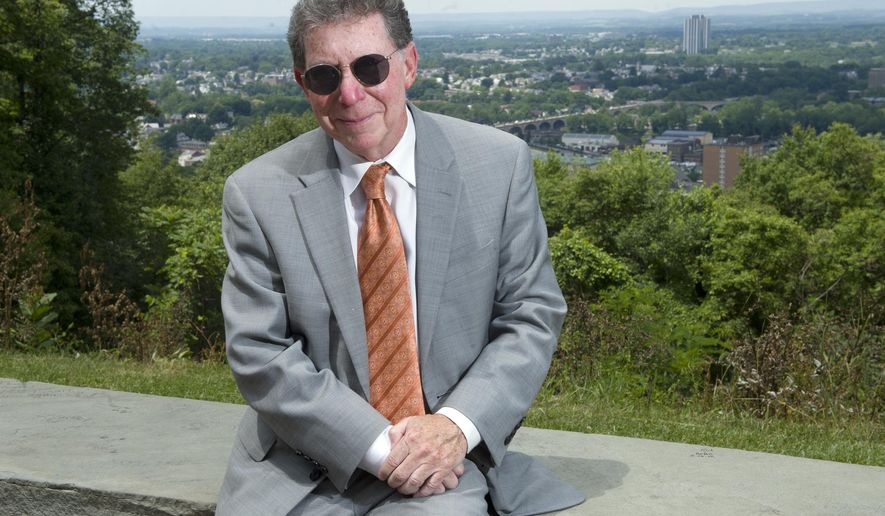 "ADVANCE FOR SATURDAY, JULY 2, 2016 - In this Wednesday, June 17, 2015 photo, Northampton District Attorney John Morganelli poses at Lehigh University's ""Lookout"" in Bethlehem, Pa. Morganelli prosecuted Christopher Bissey, who was convicted of killing two Bethlehem girls at the Lehigh University Lookout 20 years ago.  (Michael Kubel/The Morning Call via AP)"