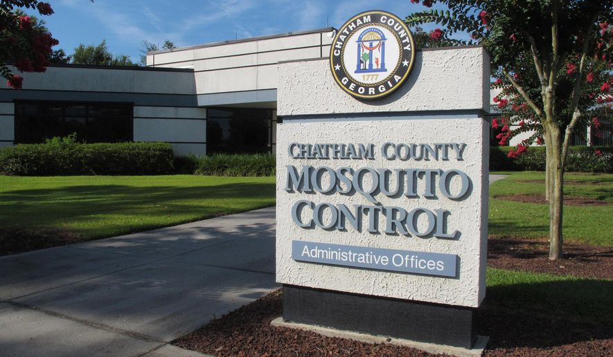 The headquarters of Chatham County Mosquito Control is shown June 30, 2016, in Savannah, Georgia. While Chatham County pours $3.8 million a year into mosquito control, at least one-third of Georgia's 159 counties provide no taxpayer funded mosquito control at all. Meanwhile, mosquitoes that carry the Zika virus can be found in all corners of the state.(AP Photo/Russ Bynum)