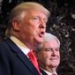 Newt Gingrich is reportedly one of the short-listed candidates for ticketmate with the GOP's presumptive presidential nominee, Donald Trump. (Associated Press) ** FILE **