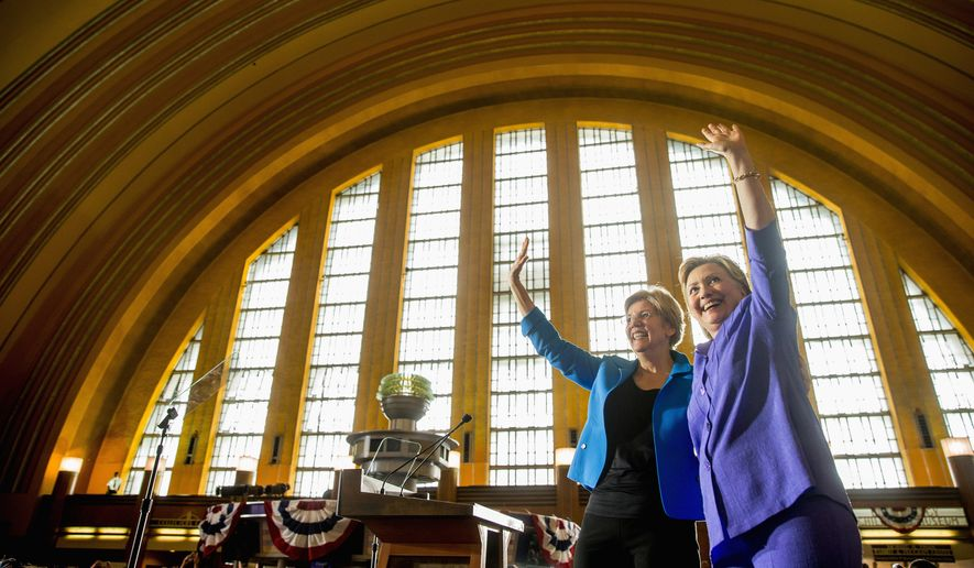 Sen. Elizabeth Warren has become a fixture with Hillary Clinton on the campaign trail, but supporters of Sen. Bernard Sanders say she is a poor substitute for the anti-Wall Street crusader. Meanwhile, Newt Gingrich appears to be on the short list to run with Donald Trump despite their myriad policy differences. (Associated Press)
