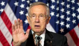 Senate Minority Leader Harry Reid of Nevada speaks during a news conference on Capitol Hill in Washington in this June 9, 2016, file photo. (AP Photo/Alex Brandon) ** FILE **