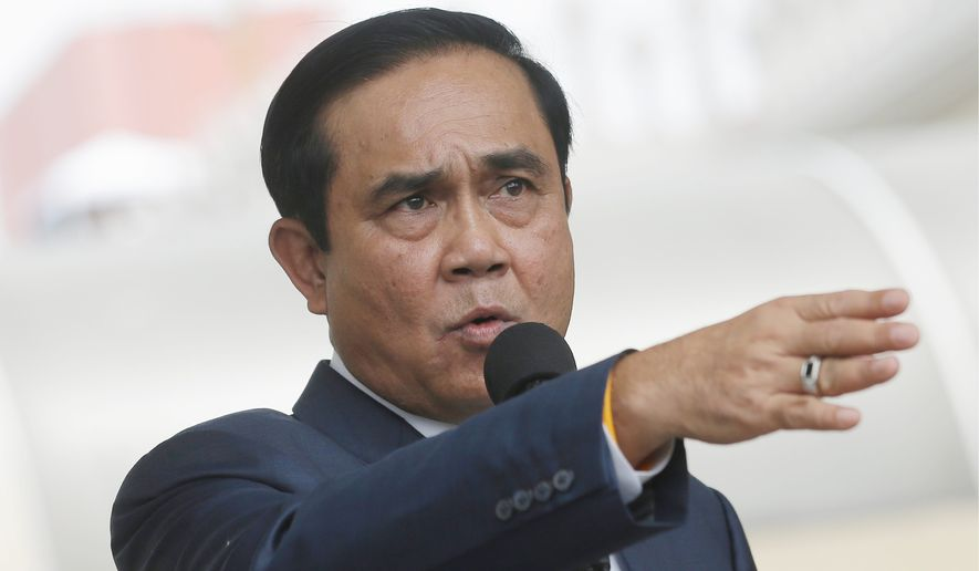 Thai Prime Minister Prayuth Chan-ocha won approval from the Constitutional Court to punish any campaigning before the referendum. (Associated Press)