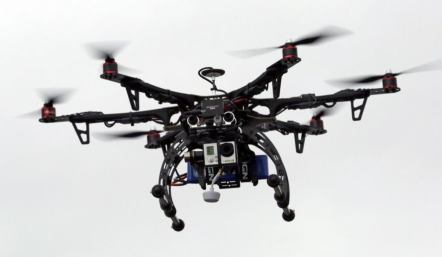 A drone is tested in Brigham City, Utah.  (AP Photo/Rick Bowmer) ** FILE **