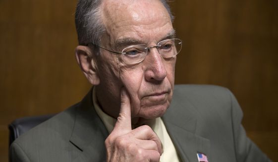 """Lives are being lost, the public's safety is at risk, and American families are suffering,"" Senate Judiciary Committee Chairman Charles Grassley wrote to Homeland Security Secretary Jeh Johnson. ""It cannot continue."" (Associated Press)"