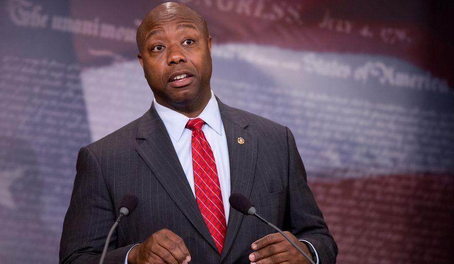 Sen. Tim Scott, South Carolina Republican (Associated Press) **FILE**
