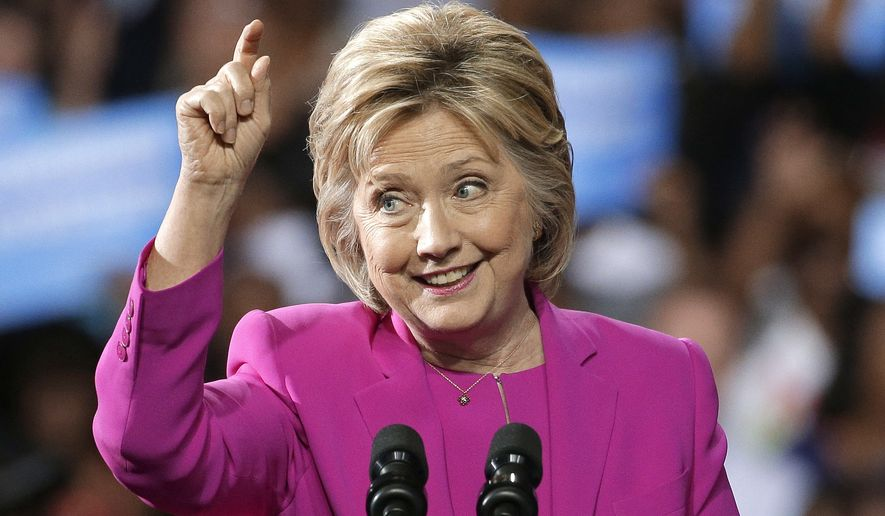 Democratic presidential candidate Hillary Clinton speaks at a campaign rally in Charlotte, N.C., Tuesday, July 5, 2016. (AP Photo/Chuck Burton)