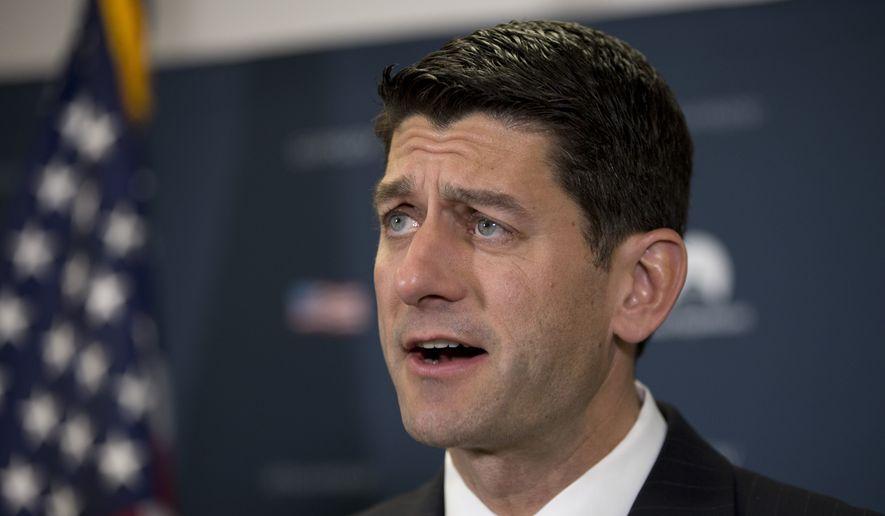 House Speaker Paul D. Ryan (Associated Press/File)