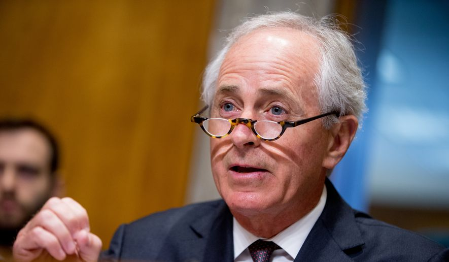 Senate Foreign Relations Committee Chairman Sen. Bob Corker, R-Tenn., speaks on Capitol Hill in Washington, in this April 5, 2016, file photo. (AP Photo/Andrew Harnik, File)