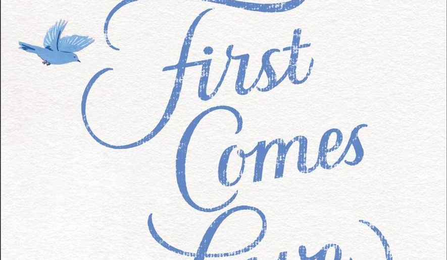 "This book cover image released by Ballantine Books shows, ""First Comes Love,"" by Emily Giffin. (Ballantine Books via AP)"