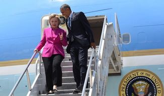 """President Obama said Tuesday that he is """"taking over"""" the Instagram account of presumptive Democratic presidential nominee Hillary Clinton as the two campaign together in North Carolina. (Instagram/@HillaryClinton)"""