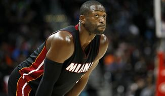 Longtime Miami Heat star Dwyane Wade reportedly intends to sign with the Chicago Bulls. (Associated Press)