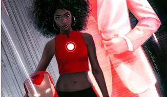 A new Marvel Comics character, Riri Williams, will temporarily replace Marvel's Tony Stark as Iron Man. (Marvel promotional image screenshot)