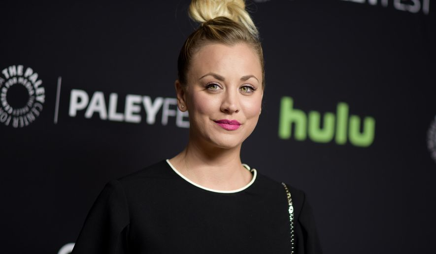 "FILE - In this March 16, 2016, file photo, Kaley Cuoco attends the 33rd Annual Paleyfest: ""The Big Bang Theory"" held at the Dolby Theatre in Los Angeles. Cuoco has apologized for posting a photo on July 4, 2016, of her dogs sitting on an American flag. (Photo by Richard Shotwell/Invision/AP, File)"