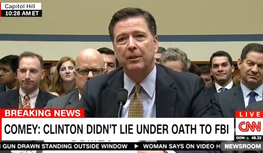 FBI Director James Comey speaks before Congress on Thursday, July 7, 2016. (CNN screenshot)