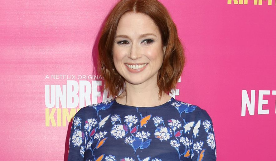 """In this March 30, 2016 file photo, Ellie Kemper attends the premiere of Netflix's """"Unbreakable Kimmy Schmidt"""" Season 2 in New York. Scribner has announced it will publish a collection of humorous essays from Ellie Kemper, who plays the title character in the Netflix series, """"Unbreakable Kimmy Schmidt."""" To be published in 2018, the as-yet-untitled book will feature stories from Kemper's life. (Photo by Greg Allen/Invision/AP, File)"""