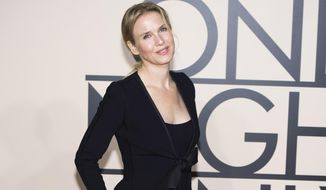 "In this Oct. 24, 2013, file photo, actress Renee Zellweger attends Giorgio Armani's ""One Night Only New York fashion show in New York. Variety film critic Owen Gleiberman wrote in a June 30, 2016, column that Zellweger no longer looks like one of her most famous screen characters, Bridget Jones. Actress Rose McGowan criticized Gleiberman over the column in an op-ed published online by The Hollywood Reporter July 6, 2016. (Photo by Charles Sykes/Invision/AP, File)"