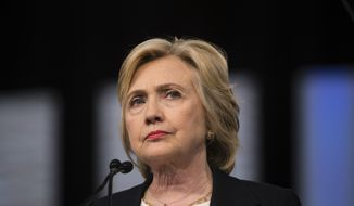 Democratic presidential candidate Hillary Clinton speaks at the African Methodist Episcopal church national convention in Philadelphia, Friday, July 8, 2016. (AP Photo/Matt Rourke)