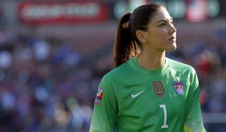Goalkeeper Hope Solo has been suspended from the U.S. national women's soccer team. (Associated Press)