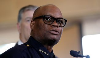 Dallas Police Chief David Brown on Sunday defended his use of a lethal robot to take out shooter Micah Johnson. (Associated Press Photographs)