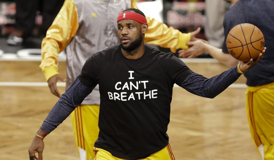Cleveland Cavaliers39 LeBron James Wears A T Shirt Reading QuotI