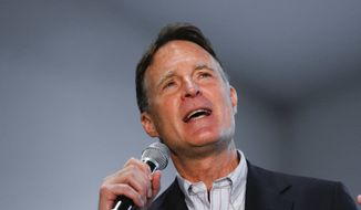 In this photo taken May 1, 2016, former Indiana Sen. Evan Bayh speaks in Indianapolis. Bayh is expected to make another run for Senate in Indiana, Democratic officials said Monday, July 11, 2016, a development that would dramatically improve the party's chances to win back the vacant seat, and Senate control along with it. (AP Photo/Paul Sancya)