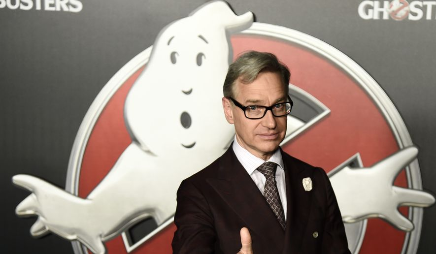 """Paul Feig, writer-director of """"Ghostbusters,"""" poses during the Sony Pictures Entertainment presentation at CinemaCon 2016 in Las Vegas on April 12, 2016. The film will be released nationwide on Friday, July 15.  (Photo by Chris Pizzello/Invision/AP) ** FILE **"""
