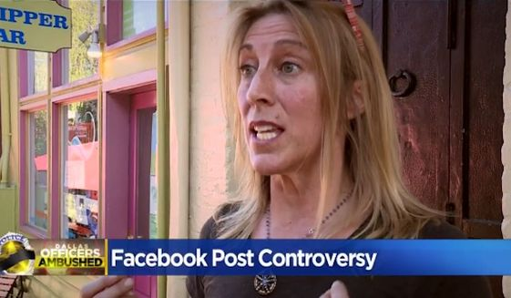 "Nevada City, Calif., Councilwoman Reinette Senum is facing calls for resignation after she claimed in a Facebook post that last week's cop killings in Dallas were ""completely incited by America's police force."" (CBS Sacramento)"
