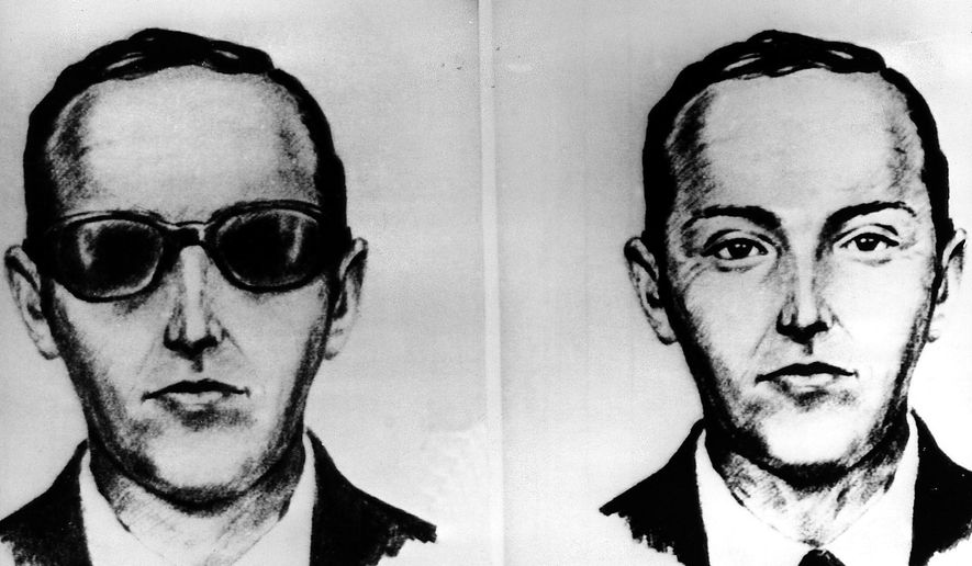 """This undated artist' sketch shows the skyjacker known as D.B. Cooper from recollections of the passengers and crew of a Northwest Airlines jet he hijacked between Portland and Seattle on Thanksgiving eve in 1971. The FBI says it's no longer actively investigating the unsolved mystery of D.B. Cooper. The bureau announced it's """"exhaustively reviewed all credible leads"""" during its 45-year investigation. (AP Photo, file)"""