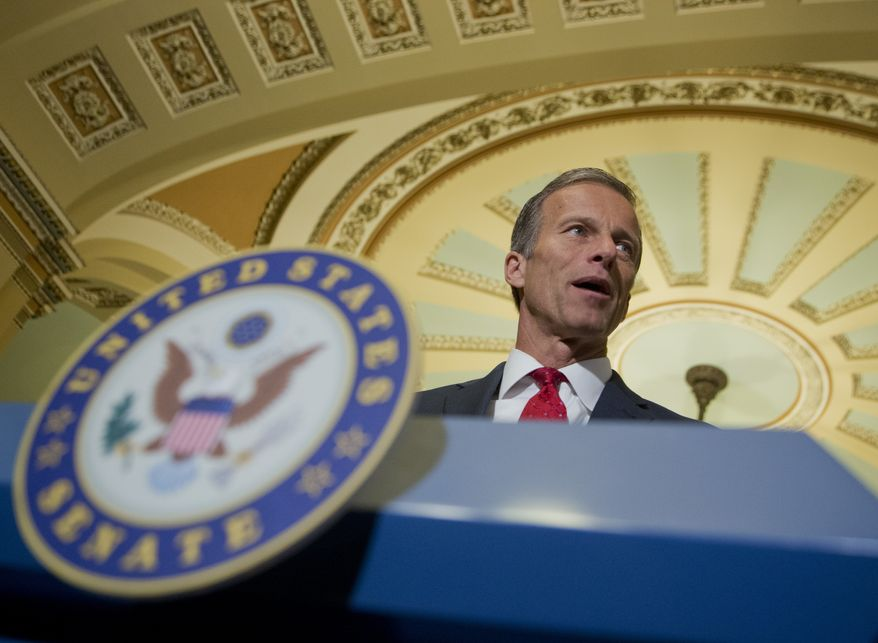 """""""The Republican-led Congress has stepped in to do what we can by enacting legislation that will expand prevention efforts, help law enforcement fight these illegal substances, and expand treatment options for those seeking help,"""" said Sen. John Thune, South Dakota Republican. (Associated Press)"""