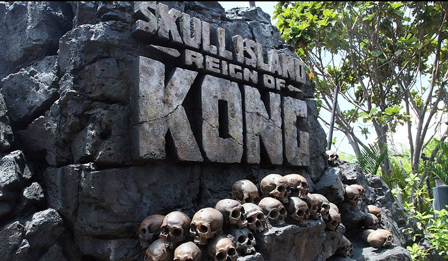 The entrance area to the Skull Island: Reign of Kong attraction at Universal's Islands of Adventure theme park. (Photograp by Jacquie Kubin/Special to The Washington Times)