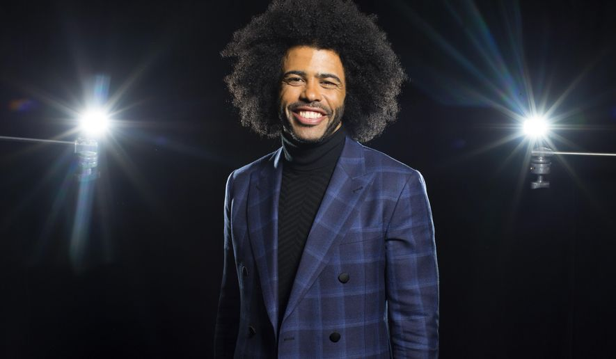 "FILE - In this May 12, 2016 file photo, Tony Award nominee Daveed Diggs poses for a photo in New York. Diggs, who plays both Thomas Jefferson and Marquis de Lafayette in the Broadway hit, ""Hamilton,"" will leave the show July 15, joining the recently departed creator Lin-Manuel Miranda, Leslie Odom Jr. and Phillipa Soo. (Photo by Scott Gries/Invision/AP, File)"